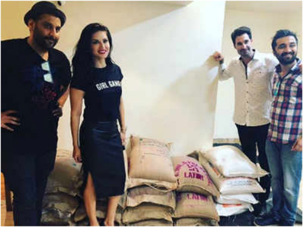 Sunny Leone and husband Daniel Weber support the Kerala relief fund