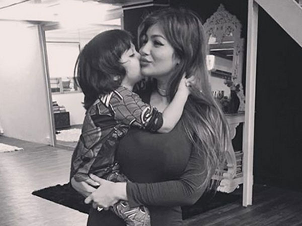 Ayesha Takia in this adorable picture with son Mikhail
