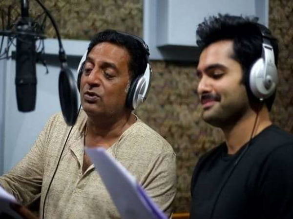 Hero Ram and Prakash Raj became singers for Hello Guru Prema Kosame movie