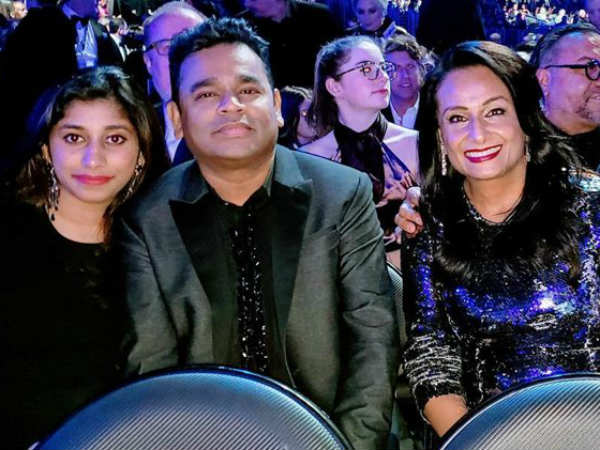 AR Rahman and daughter Raheema at Grammys 2019