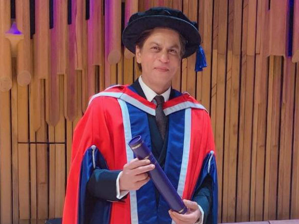 Shah Rukh Khan received an Londons honorary doctorate