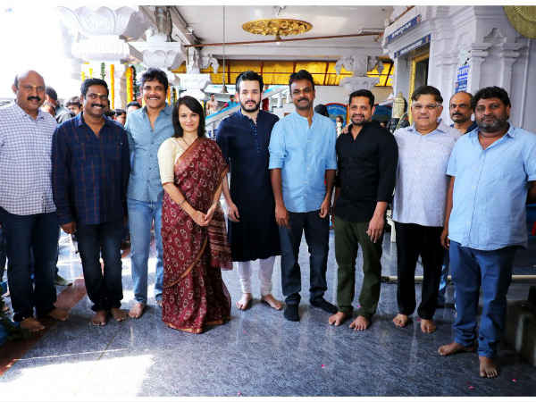 Akhil Akkineni, Bommarillu Bhaskar,  GA2 Production no 5 launch