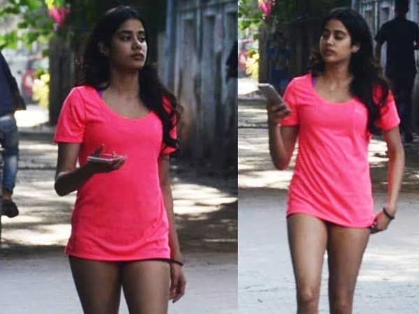 Jhanvi Kapoor In Gym Outfit With Short Dress