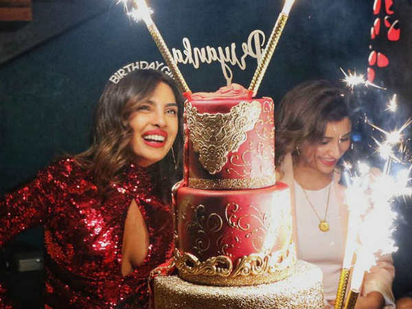 Priyanka Chopras birthday cake Worth is Rs.3.5 lakhs