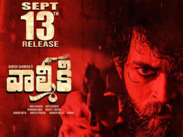 Varun Tejs Valmiki releasing on September 13th