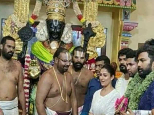 Actor Nayanthara, Vignesh Shivan visited Kanchipuram