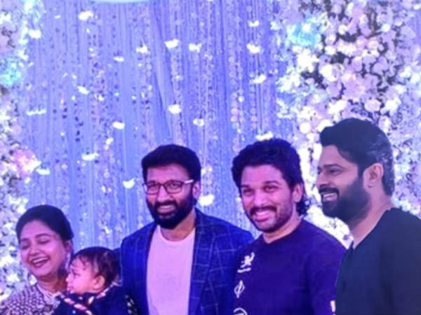 Prabhas was spotted In Gopichands son first birthday