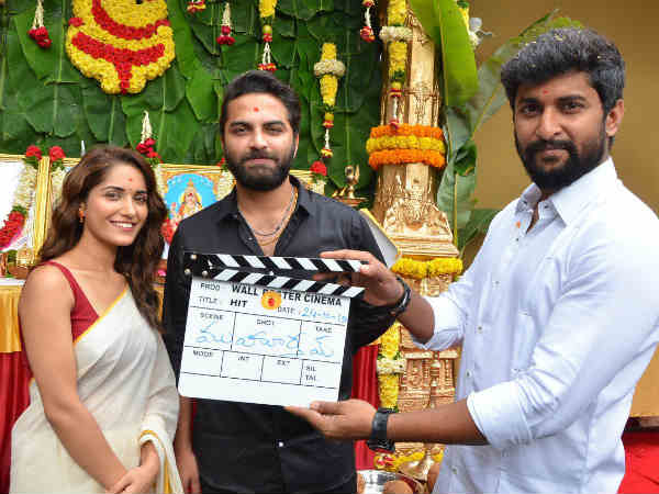 Nanis Hit Movie launch.. Vishwaksen Naidu On The Sets