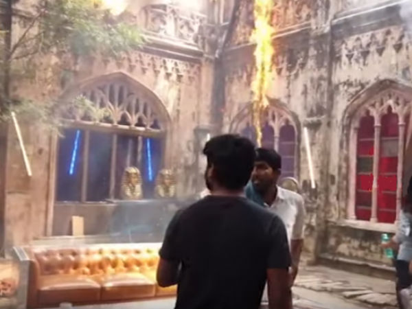 Fire Accident in Puri Jagannadhs Romantic Sets