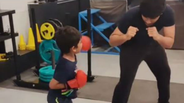 Allu Sirish And His Boxing Partner Video Goes Viral