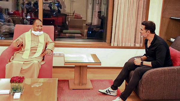 యూపీ సీఎంను కలిసిన అక్షయ్ కుమార్: 'రామ్ సేతు' పైనే ప్రధాన చర్చ