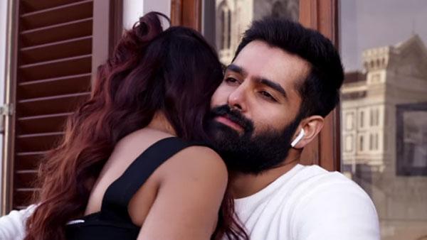 Red Nuvve Nuvve Video Song Released Ram Malvika Sharma Liplock