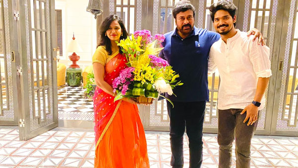 Actor Sudhakar Komakula Family Met Megastar Chiranjeevi