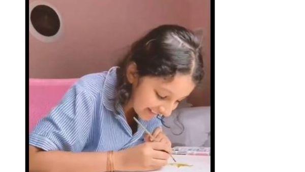 తండ్రి కోసం గంటల తరబడి కష్టపడిన సితార.. మహేష్ పేరు వచ్చేలా సర్ప్రైజ్