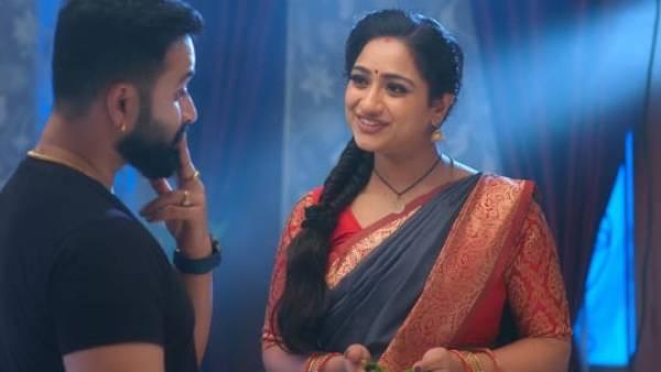 Trinayani Episode 373 నయని కాళ్ళు పట్టుకున్న విశాల్.. బలవంతం చేసిన సుమన?