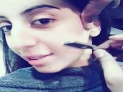 Sanjjanna Galrani Face Shave Laser Treatment