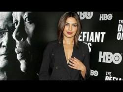 Priyanka Chopra Looks Stunningly Sexy The Black Double Breas