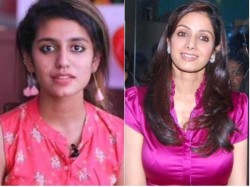 Sridevi Death Priya Prakash Varrier Pays Tribute Actress