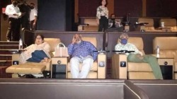 Rajamouli Watching Vakeel Saab On Amb Cinemas